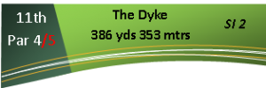 11th Hole - The Dyke